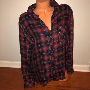 Rails Plaid flannel button down shirt top large